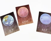 Planets Sticky Notes - Stick Note Notepad Mini Notepad Post It