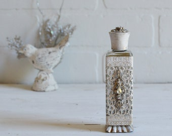 Perfume Bottle, Perfume Bottle Vintage, Filigree Perfume Bottle, Avon Bottle, Avon Perfume Bottle, Rhinestone Perfume Bottle, Vanity Decor