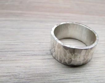 Rustic band, rustic ring, mens ring, hammertone ring, hammered band, unisex, wedding, for groom
