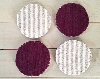 Wool Felt Coasters- Reversible
