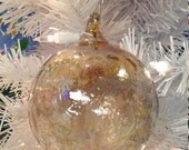 "NW Hand-Blown Glass Holiday/Christmas Ornaments ""Antique Bronze"""