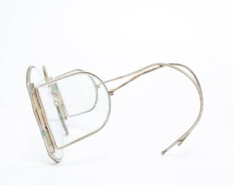 Vintage Steampunk safety glasses, industrial.