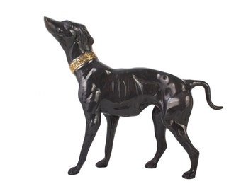 Bronze Whippet Statue // Greyhound Sculpture