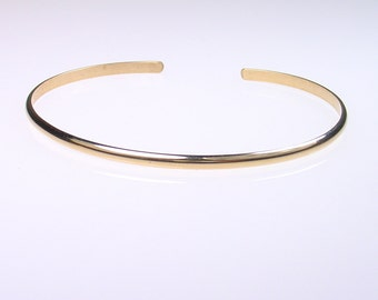 1 - Wide Smooth Gold Cuff Bracelet - 14k Yellow goldfill -  Smooth Gold Bangle Bracelet