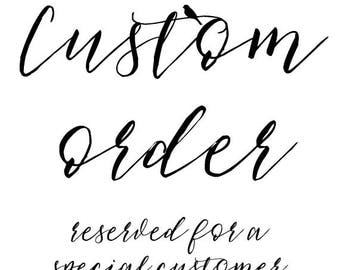 Custom order for Morgan