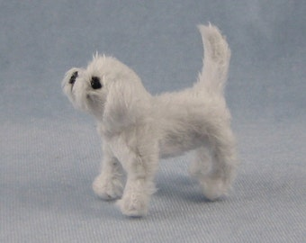 Maltese Soft Sculpture Miniature Dog by Marie W. Evans