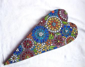 Mosaic Art, Heart, Love, Wedding, Gift, Wall hanging, Home Decor, Original