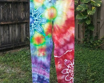Ice Dyed Leggings - Juniors Extra Large - Please Read Item Details Before Buying