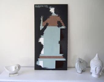 Original Woman Figure Art-Wall Painting