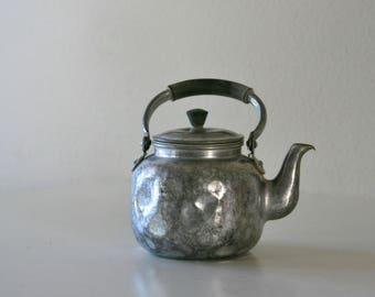 Vintage Worn Tea Kettle, Small, Japan, Tea House Decor