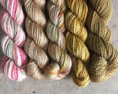 New Parchment Mini Sock Yarn Skeins - 25 yds each
