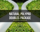 Doubles Set: Two Natural Polypro or HDPE Hula Hoops with Custom Tubing Size, Diameter & Grip Options!
