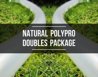 Polypro Doubles Package: Two Natural Polypro Hula Hoops with Custom Tubing Size, Diameter & Grip Options!