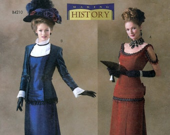 Butterick History B4212 Sewing Pattern for Misses' Victorian Costume - Uncut - Size 18, 20, 22 - Bust 40, 42, 44
