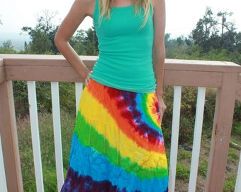 Tie dye Styleworks skirt, size Small upcycled
