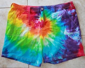 Tie dye Alpine Design women's shorts size 12 upcycled