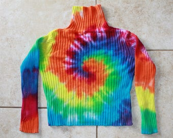 Tie Dye Kid's Turtleneck upcycled