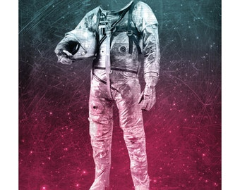 "Limited Edition Digital Print - ""Spaceman"" by Holly Danger"
