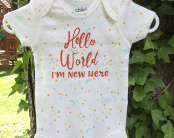 Baby Onesie- hello world