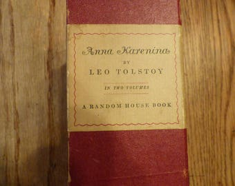 1939 Anna Karenina by Leo Tolstoy . Boxed Set . Random House
