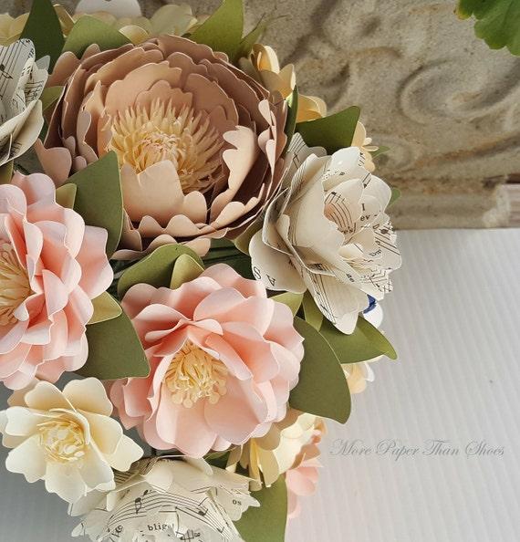 Paper Bouquet, Paper Flower Bouquet, Handmade Bouquet, Pink and ...