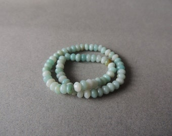 Amazonite, Pale Blue, Smooth 6mm Roundels, 11 1/2 Inches