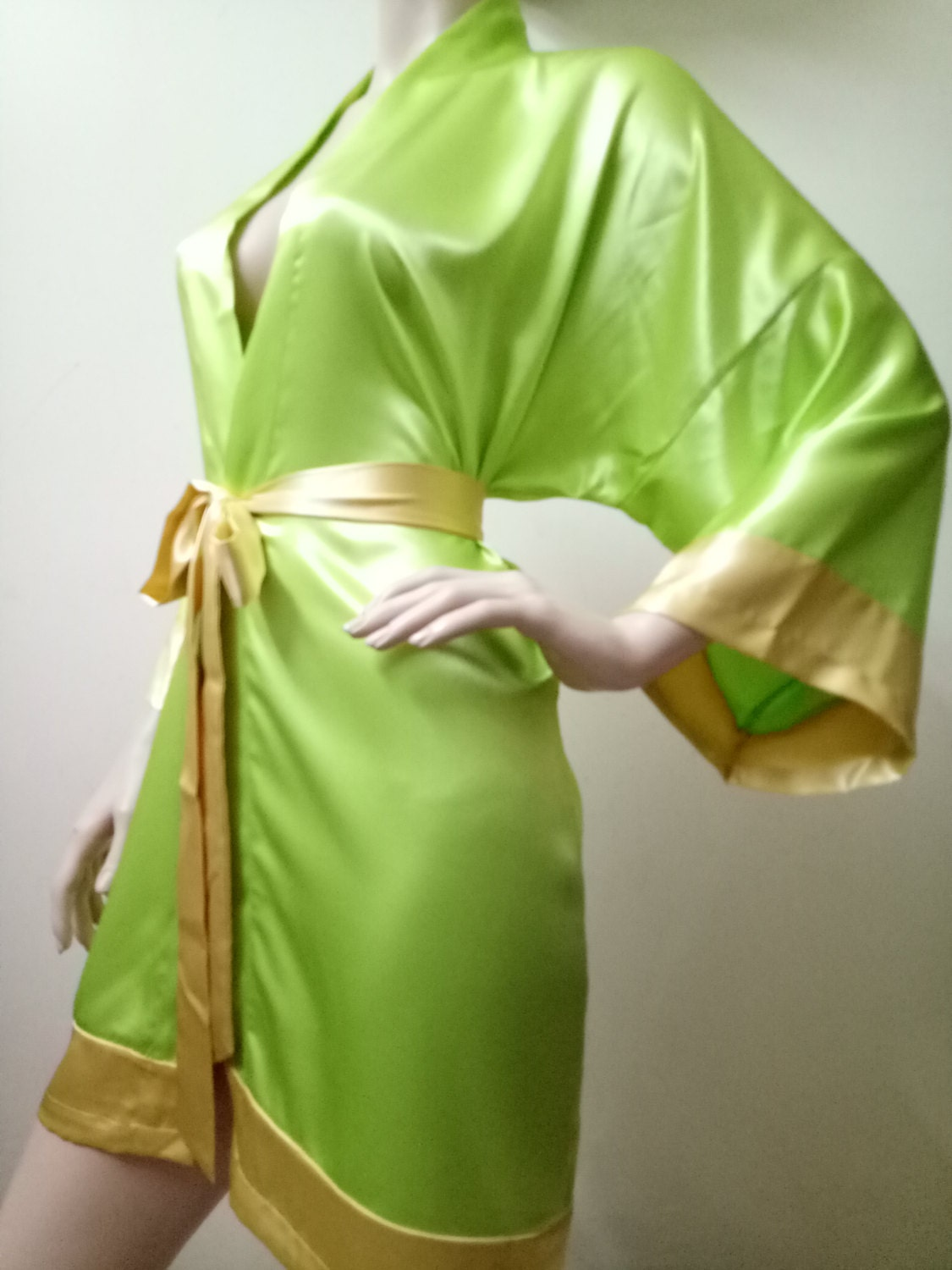 SALE Green Bridesmaid Robes wedding robe bridesmaid silk
