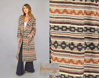 PENDLETON Woven Blanket Wrap Coat