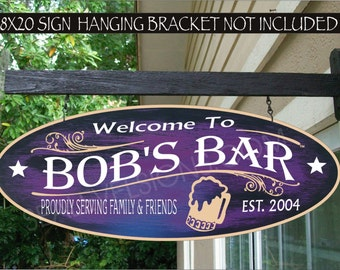 Personalized Beer Mug Bar Sign, Pub, Tavern, Saloon, Custom Personalized Outdoor Sign