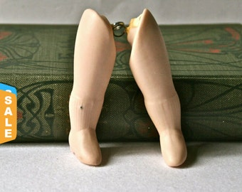 Closeout - Porcelain Doll Leg Pair for Altered Art Doll Making or Repair