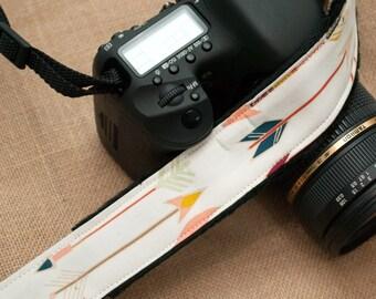 Camera Strap - Photographer SLR Camera Strap - Long Arrows