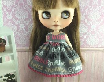 Blythe Dress - Grumpy Cat Words