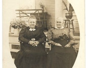 Vintage RPPC Grandmas in Rocking Chairs