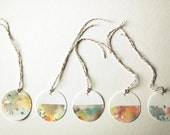 Painted Gift Tags - Minerals