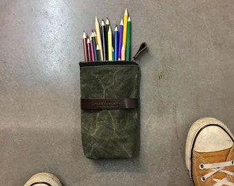 Pencil case, small pouch, zipper pouch, cosmetic bag, eyeglass case