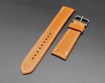 Classic Watch Strap - Tan English Bridle 22/20