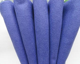 Wool Felt, Wool Felt Sheets, Bluer Than Blue Wool, Merino Blend Wool Felt, Craft Felt - 12 X 18