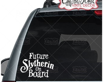 """Harry Potter Quote """"Future Slytherin on Board"""" Sign Vehicle Decal Sticker"""