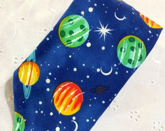 Space Planets Solar system - Boy's velcro neck tie - sizes 2 through 14 years - no tie neck tie