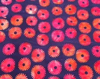 Saw circles royal, artisan collection by kaffe fassett for Free Spirit Fabrics 1/2 yd
