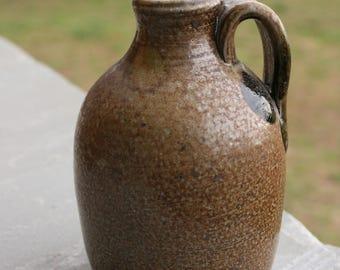 Small Salt Glazed Pottery Jug Seagrove NC Traditional Pottery Small Jug