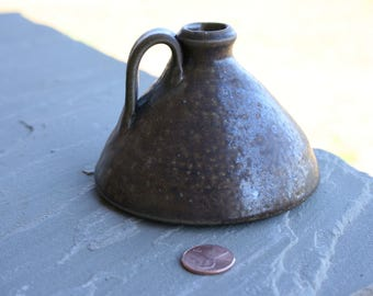 Salt Glazed Small Buggy Jug Seagrove NC Traditional Pottery