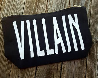Villan Grooming Bag black and white