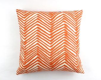 Quadrille Alan Campbell Zig Zag Custom Pillows- (Shown in Orange on Tint-Comes in 15 Colors)