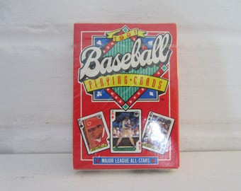 1991 Baseball Playing Cards, sealed