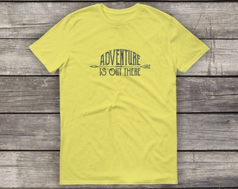 Adventure Is Out There - Preshrunk Cotton T-Shirt - by Alpine Graphics - Choose Size and Color - T013