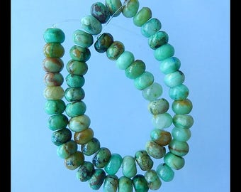 Natural Chrysocolla Gemstone Loose Beads,1 Strand,10x7mm,34cm in the length,67g(b0464)
