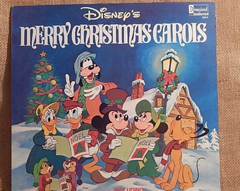 DISNEY'S Merry Christmas Carols - 1980 Vintage Vinyl Record Album