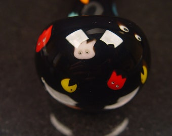 Pacman Murrine, Inside Out, Glass Pipe, Spoon by Firebrand, Ready to Ship, PAC12011632