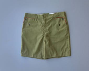 Vintage Boy Scout Pants. Boy Scout Cut Off Shorts. Cut Offs. Green Shorts. Military Shorts. BSA. Size Large